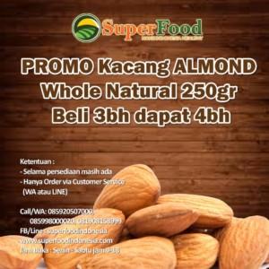 Promo Almond Natural 250gram. Beli 3 bh + 1 bh.